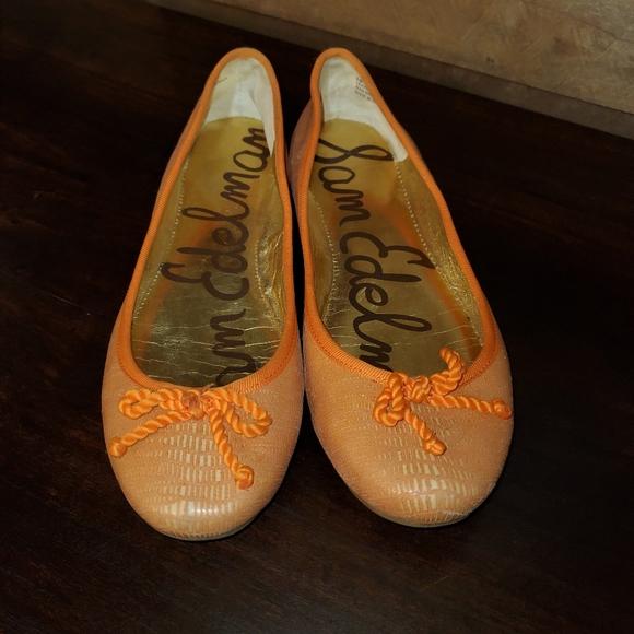 Peachy Orange Sam Edelman flats